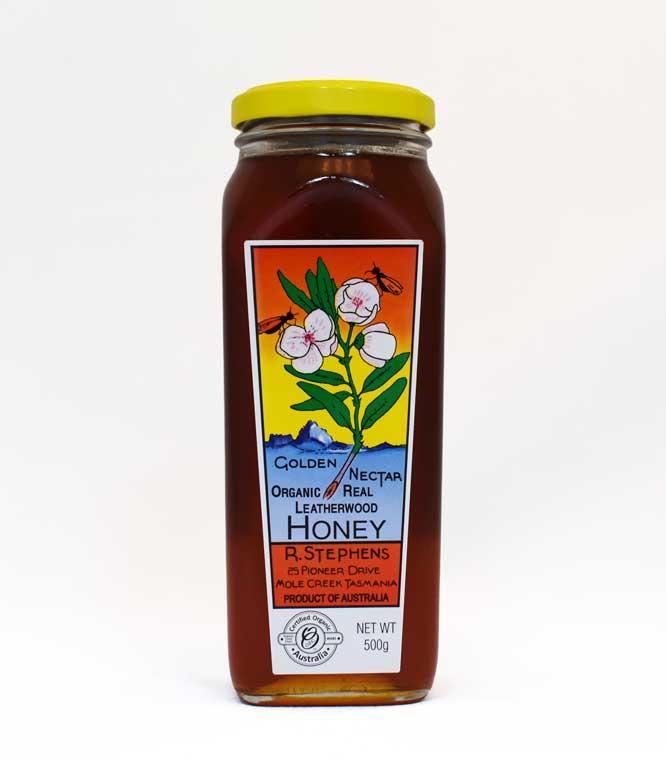R. Stephens Golden Nectar Organic Real Leatherwood Honey 500g