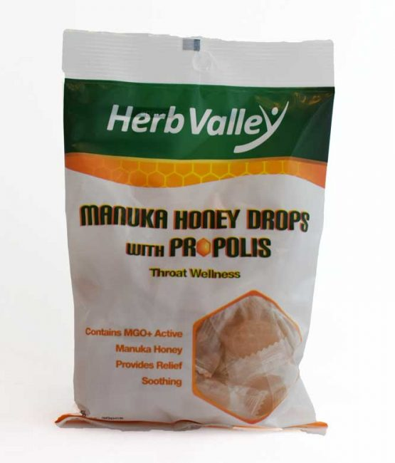 Herb Valley Manuka Honey Drops with Propolis 150g Front