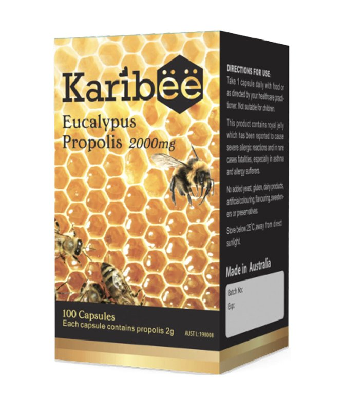Eucalyptus Propolis 2000mg – Karibee (100 capsules)