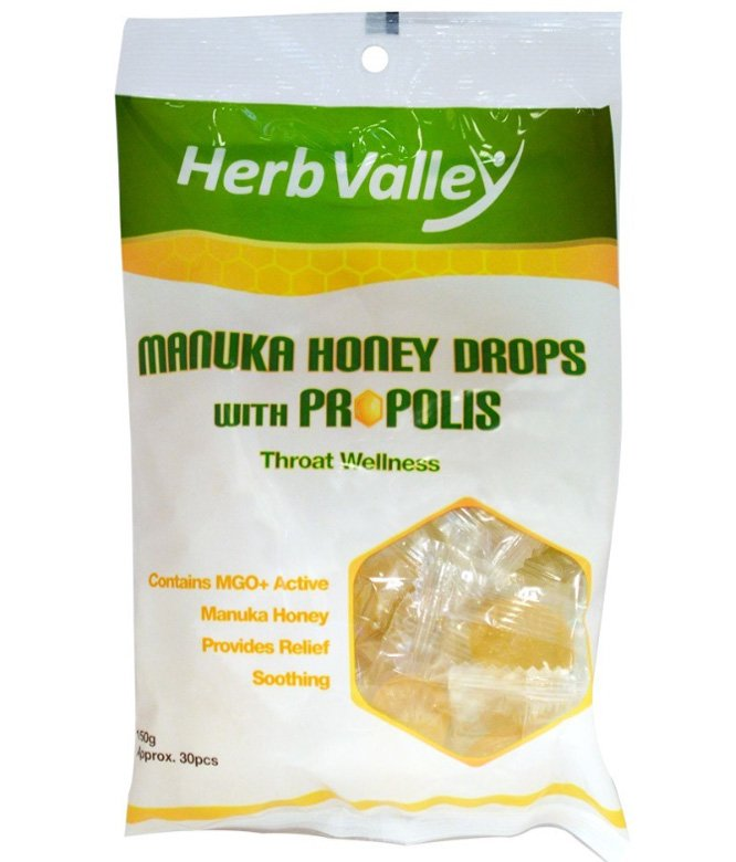 Herb Valley Manuka Honey Drops with Propolis 150g