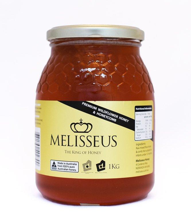 Melisseus Premium Wildflower Honey & Honeycomb 1kg