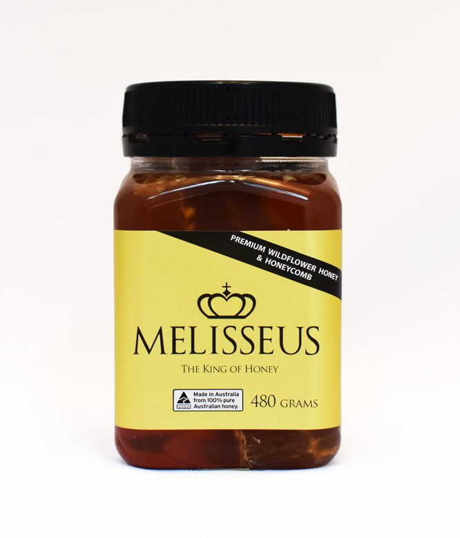 Melisseus Premium Wildflower Honey & Honeycomb 480g