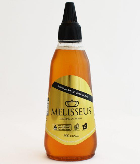 Melisseus Premium Wildflower Honey 500g Squeeze