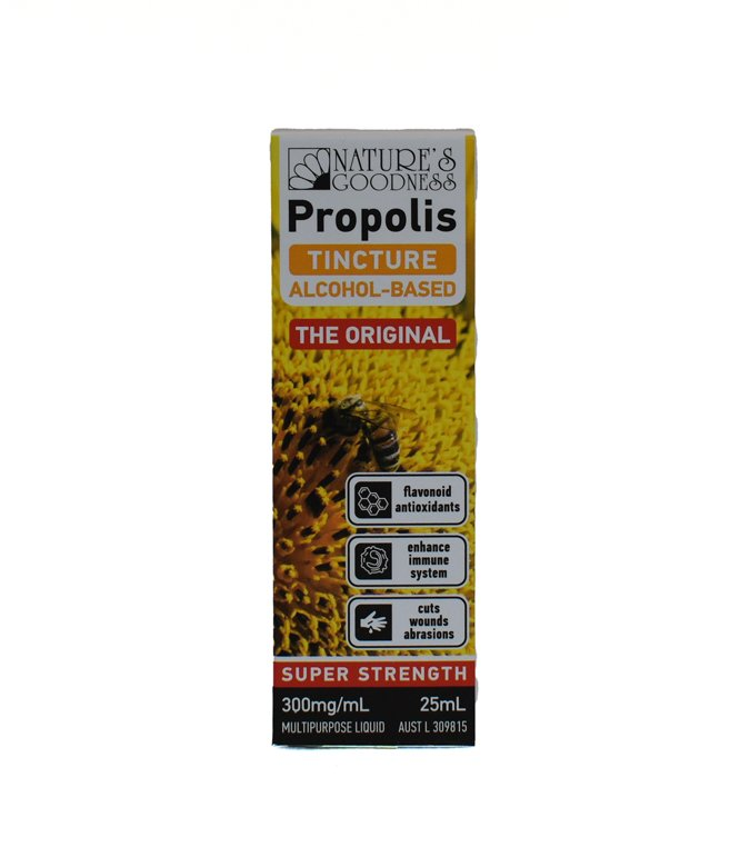 Natures Goodness Propolis Tincture Alcohol Based 300mg/mL 25ml