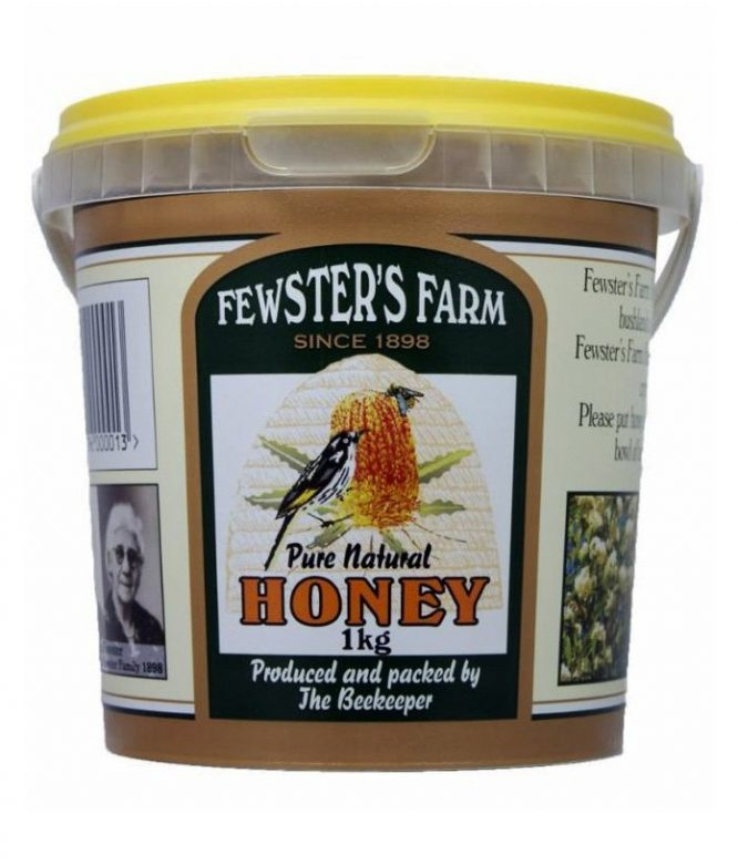 Raw Organic Pure Honey - Fewsters Farm (1kg)