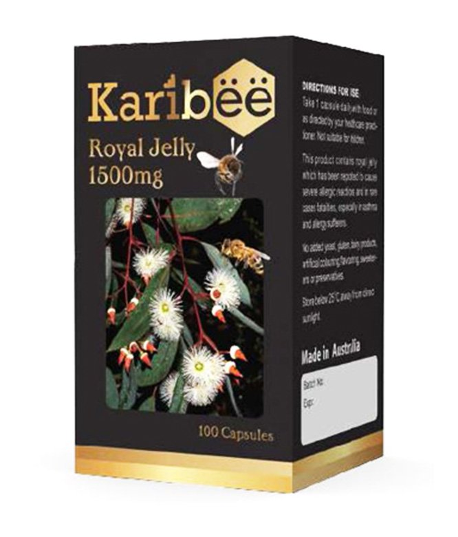 Royal Jelly 1500mg - Karibee (100 capsules)