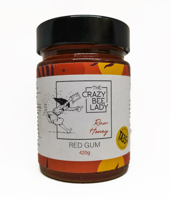 The Crazy Bee Lady Red Gum Raw Honey TA35+ 420g