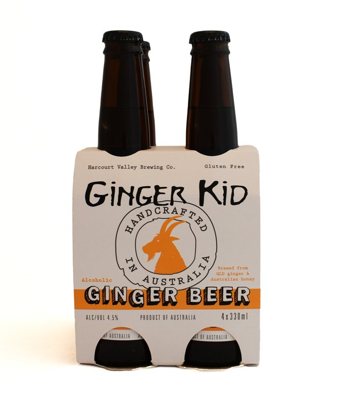 The Ginger Kid - Ginger Beer | Mead - 4.5% [12 pack] - Harcourt Valley (330ml)
