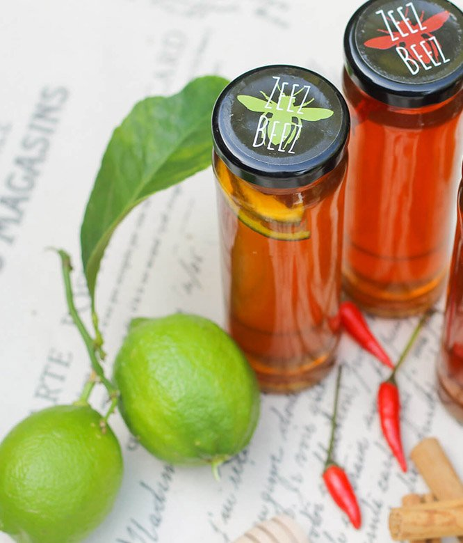Zeez Beez Infused Raw Honey