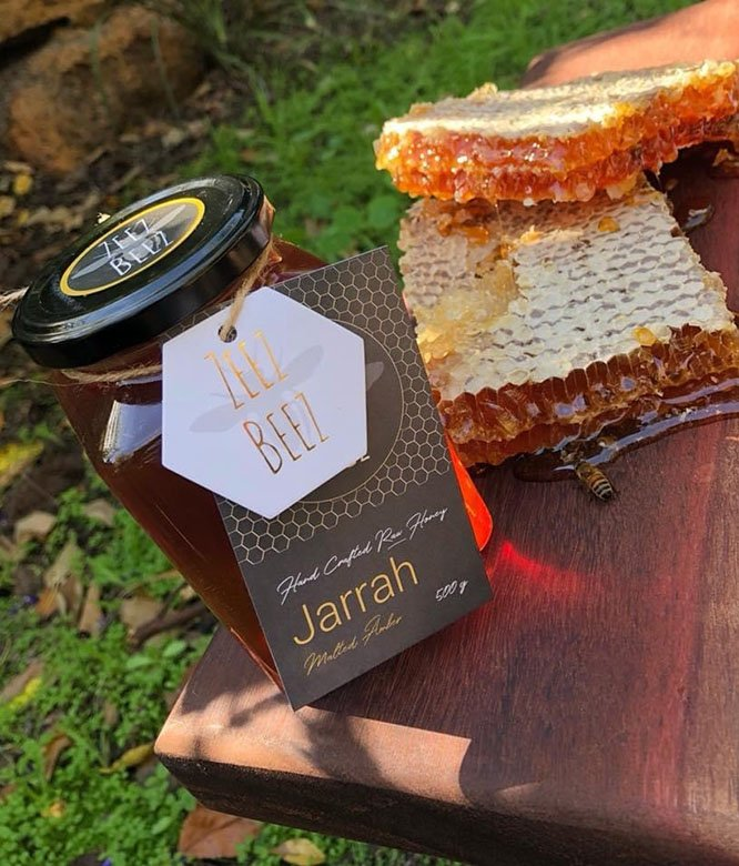 Zeez Beez Raw Honey Jarrah & Honeycomb