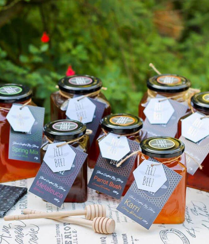 Zeez Beez Raw Honey Karri Melaleuca Parrot Bush Spring Mix