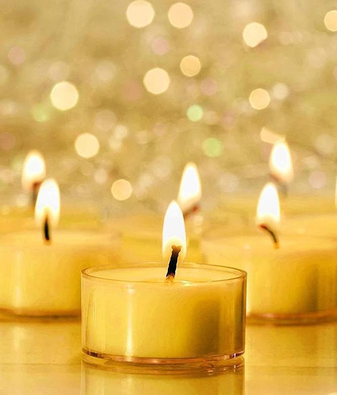 Beeswax Teelight Candle